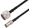 N Male to BNC Female Cable Assembly using RG58 Coax, 2 FT -- LCCA30677-FT2 -Image