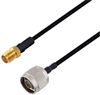 N Male to SMA Female Cable Assembly using LC141TBJ Coax, 1 FT -- LCCA30481-FT1 -Image