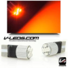 RED 6 LED HIGH OUTPUT BULBS W/ HEAT SINK 194 168 158 | 1 PAIR -- 194_6_R