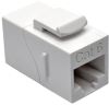 Cat6 Straight-Through Modular In-Line Snap-In Coupler (RJ45 F/F), White, TAA -- N235-001-WH - Image