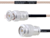 BNC Male to TNC Male MIL-DTL-17 Cable M17/113-RG316 Coax in 18 Inch -- FMHR0089-18 -Image