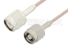 TNC Male to Reverse Polarity TNC Male Cable 12 Inch Length Using RG316 Coax -- PE35238-12 -Image