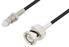 FME Jack to BNC Male Cable 60 Inch Length Using RG174 Coax, LF Solder, RoHS -- PE3C3409LF-60 -Image
