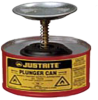 1 Quart Justrite Steel Plunger Can -- CAN10108