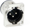E Series Male Panel Mount Connectors -- E3MSCBM3
