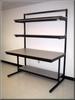 Workstation w/ Dual Adjustable Upper Shelf -- LS-106P Series -- View Larger Image