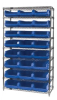 Bins & Systems - MAGNUM Bins (QMS Series) - Wire Shelving Units - WR9-531