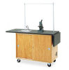 Mobile Laboratory Table, Rectangular, 48w x 24d x 36h, Black -- DVW4121K