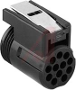 connector,plug,quick connect/disconnect,for 12 machined size 16 socket contacts -- 70129413