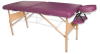 Deluxe Portable Massage Table - Burgundy -- W60602BG