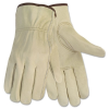 Economy Leather Driver Gloves, Large, Cream -- 3215L - Image