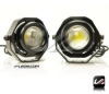 WHITE 9W LED PROJECTOR DRL FOG DRIVING AUX LIGHTS | 1 PAIR -- DRL_9_PRO_W