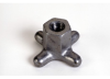 Cast Aluminum Hand Knob: 2 Knob x 1/2 Thread Depth -- 43316
