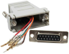 DB15 Female to RJ45 Modular Adapter -- 31D2-A2 -- View Larger Image