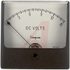 Panel Meter, 0-15DCV, + 2% (Full Scale); DC Voltmeter; Annular, Self-Shielding -- 70209394