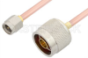 SMA Male to N Male Cable 24 Inch Length Using RG402 Coax, RoHS -- PE3887LF-24 -Image