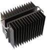40 dB Fixed Attenuator N Male (Plug) to N Female (Jack) Directional Up to 2.5 GHz Rated to 1000 Watts, Heatsink Body, 1.35 VSWR -- SA3N1000-40 -Image