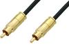 75 Ohm RCA Male to 75 Ohm RCA Male Cable 60 Inch Length Using 75 Ohm PE-B159-BK Black Coax -- PE38133/BK-60 -Image