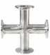 Cole-Parmer, Sanitary Clamp Cross, 316L SS, 2