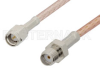 SMA Male to SMA Female Cable 72 Inch Length Using RG316-DS Coax, RoHS -- PE3171LF-72 -Image