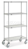 Adjustable Chrome Wire Shelf Truck -- T9H188500 - Image