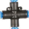"1/4"" Hose Cross Pneumatic Fitting -- 8092736 - Image"
