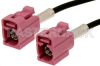 Violet FAKRA Jack to FAKRA Jack Cable 12 Inch Length Using PE-C100-LSZH Coax -- PE38746H-12 -Image