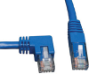 Cat6 Gigabit Molded Patch Cable (RJ45 Left Angle M to RJ45 M) Blue, 10-ft. -- N204-010-BL-LA