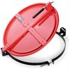 PIG Latching Drum Lid Black For Steel Drums, For 55 gal., Standard Bolt Latching & Locking Drum Lids DRM659-BK -- DRM659
