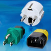 AC-AC Power Adapter Hooded Male IEC 320-C14 -- WS - 073