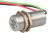 103SR Series Unipolar Hall-Effect Digital Position Sensor with 15/32-32 UNS-2A cylindrical aluminum threaded housing; two hex nuts; 142 mm [5.6 in] 22-gauge PVC insulated conductor cables -- 103SR13A-10