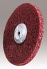 3M Scotch-Brite MF-UW Unitized Aluminum Oxide Medium Deburring Wheel - Medium Grade - Arbor Attachment - 12 in Diameter - 1 1/4 in Center Hole - Thickness 1/2 in - 29271 -- 048011-29271 - Image
