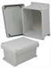8x6x4 Inch UL® Listed Weatherproof NEMA 4X Enclosure w/Aluminum Mounting Plate, Corner Screws -- NBC080604-KIT -Image