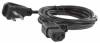 2ft 18 AWG Universal Right Angle Both Side Power Cord ( IEC320 C13 to NEMA 5-15P) -- P7CR-RR02 - Image
