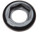 Panel mount lock ring, black nylon, 25/pk -- EW-45509-00