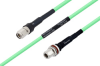 Temperature Conditioned TNC Male to N Female Bulkhead Low Loss Cable 12 Inch Length Using PE-P300LL Coax -- PE3M0241-12 -Image