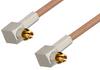 MC-Card Plug Right Angle to MC-Card Plug Right Angle Cable 12 Inch Length Using RG178 Coax -- PE36128-12 -Image