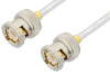 BNC Male to BNC Male Cable 18 Inch Length Using PE-SR402FL Coax, RoHS -- PE3462LF-18 -Image
