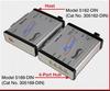 Fiber-to-USB Converter/Extender, 4-Port Hub -- 5169-DIN -Image