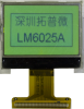 128x64 Graphic Display Module -- LM6025CBY - Image