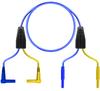 (2) R/A Shrouded Banana-(2) Chuck Ends-Blue-6ft -- TC-3006TX/6 - Image