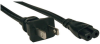 2-Slot Non-Polarized Laptop Notebook Power Cord, 1-15P to C7 - 10A, 120V, 18 AWG, 6 ft., Black -- P012-006 - Image