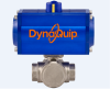 Pneumatically Actuated 3-Way Ball Valve -- PYSG Series - Image