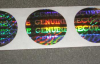 Holographic Tamper Evident Label with Vinyl Backing