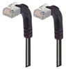 Category 6 Shielded LSZH Right Angle Patch Cable, Right Angle Up/Right Angle Up, Black, 3.0 ft -- TRD695SZRA5BLK-3 -Image