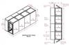 4-Unit Tunnel Low Profile Single Door Air Shower -- CAP701LP-ST4-61216