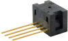 24PC Series, uncompensated/unamplified, absolute, 0 psi to 15 psi, 1x4 SIP 15,2 mm [0.60 in] long, modular port -- 24PCCFD6A -Image