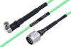 Temperature Conditioned SMA Male Right Angle to N Male Low Loss Cable 48 Inch Length Using PE-P160LL Coax -- PE3M0201-48 -Image