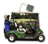 OUTLET Qty 1 Golf Cart Large Die Cut Gift Bag Item# OUTLET8 -- OUTLET8