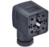 GDM Standard DIN Standard Field Attachable Connector: Form A, 4-pin (3+1PE; PE across cable outlet), black housing, screw type, M16; with recovery diode, 230 V DC, 10 A -- GDM3106-D1U-10D